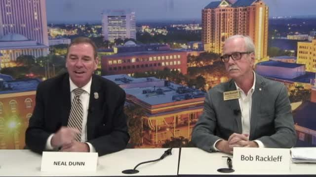 Interviews with Editorial Board: Rep. Neal Dunn (R) and Bob Rackleff (D), candidates for U.S. House of Representatives, Florida District 2.