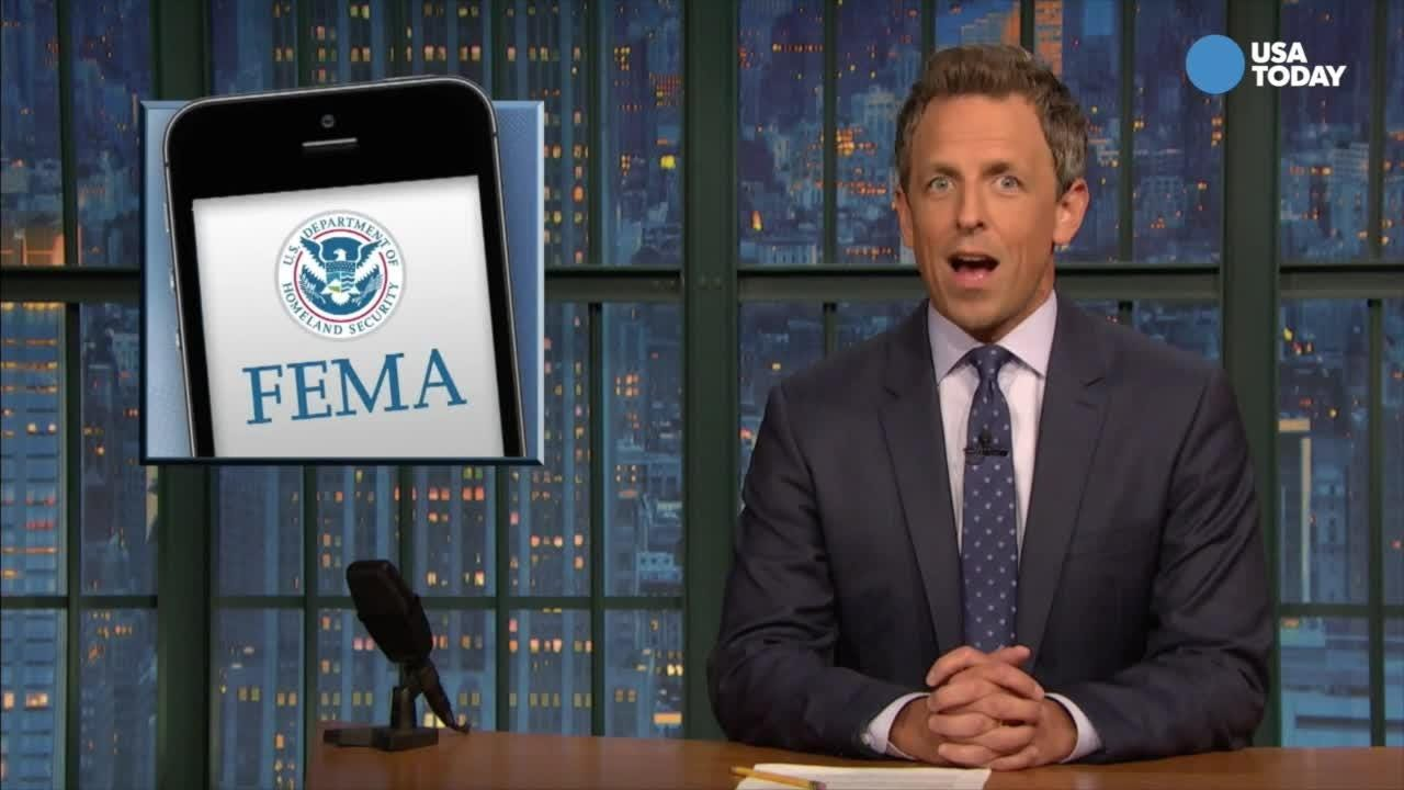 The late-night comics talk all things Trump, including his Supreme Court nominee and emergency alerts. Vote for your favorite at usatoday.com/opinion.