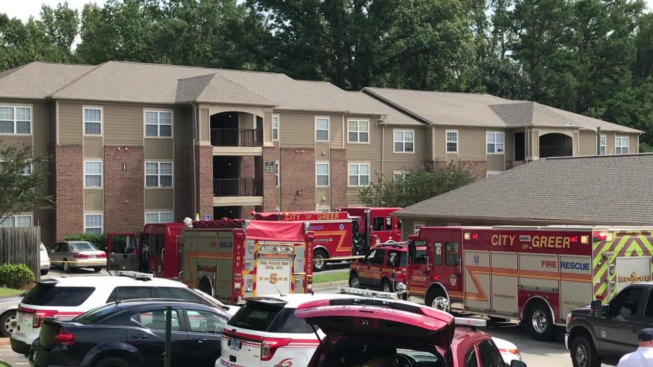 Two bodies found after a fire at Poplar Place Apartments in Greer on Tuesday, Sept. 18, 2018.