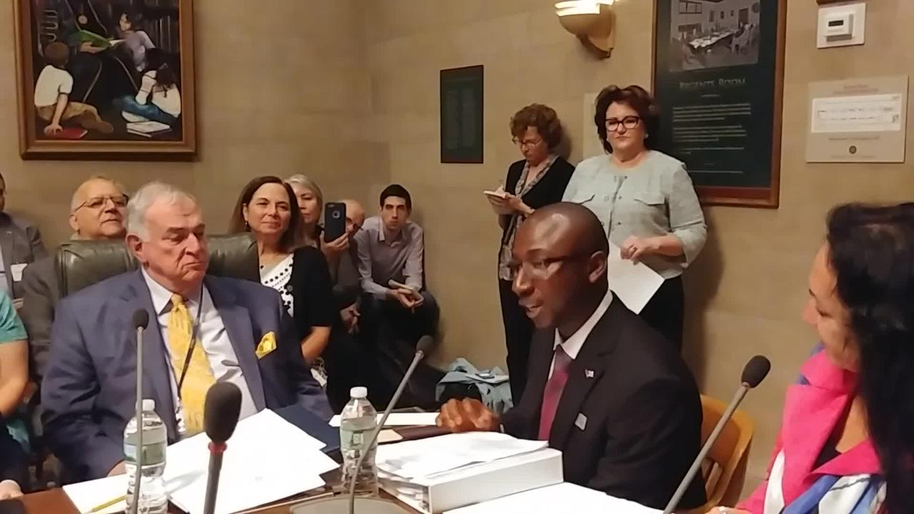 Alhassan Susso was named NY's teacher of the year at a ceremony during a state Board of Regents meeting on Sept. 18, 2018, in Albany.