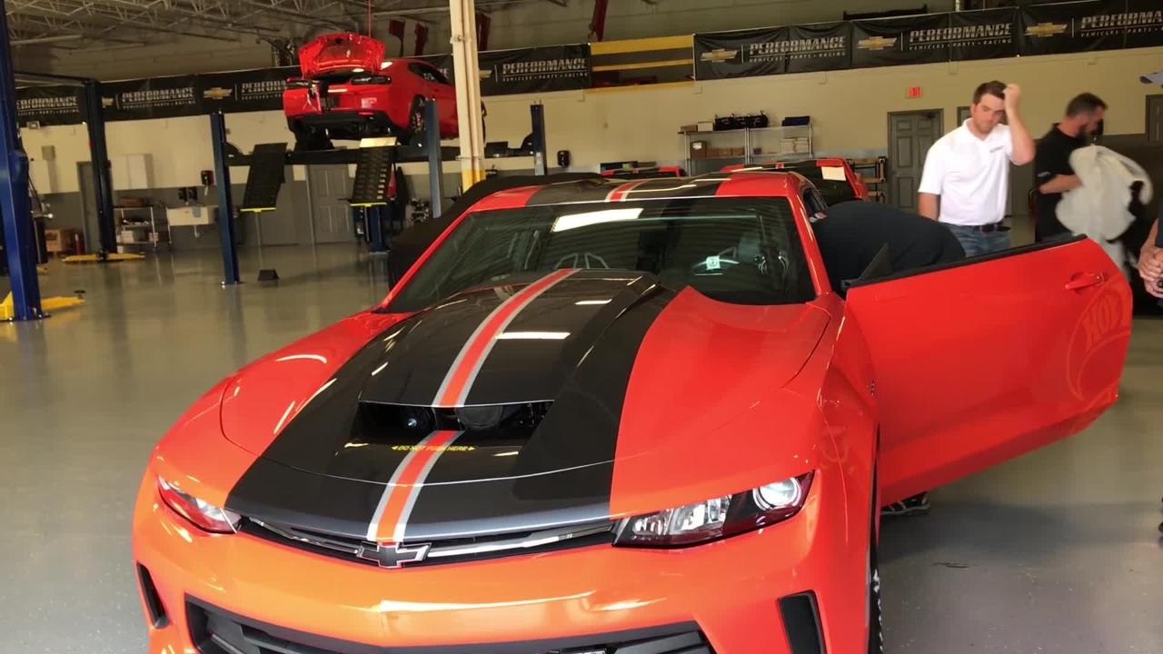 How Chevy S Unique Camaro Goes From Hot Wheels Toy To Track
