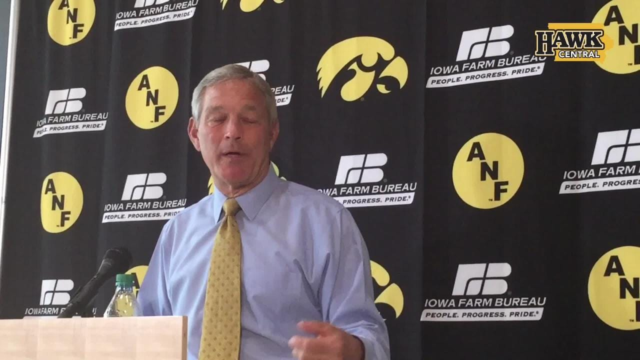 Iowa head coach Kirk Ferentz says he thinks cut block penalties should be reviewable, like targeting calls are.
