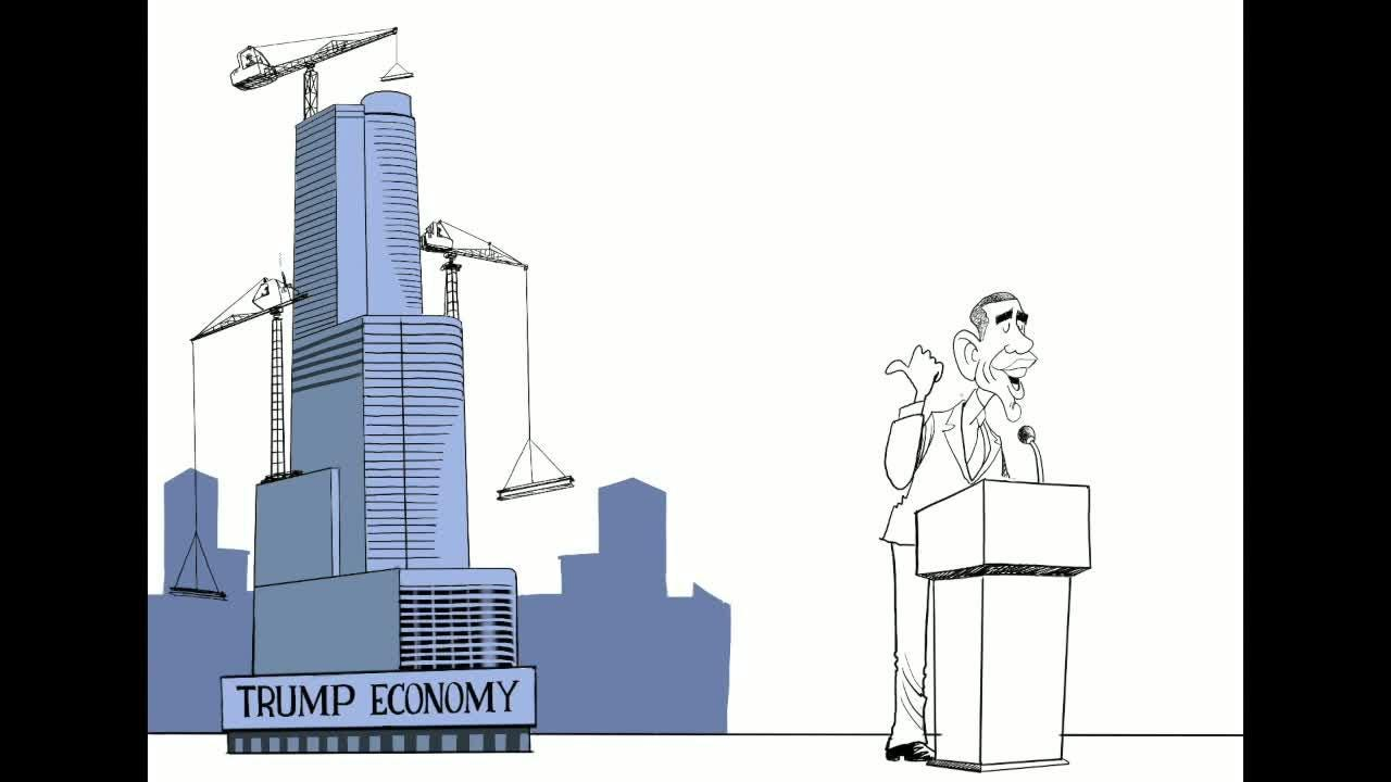 Watch Gary Varvel's time lapse video of President Obama's claims.