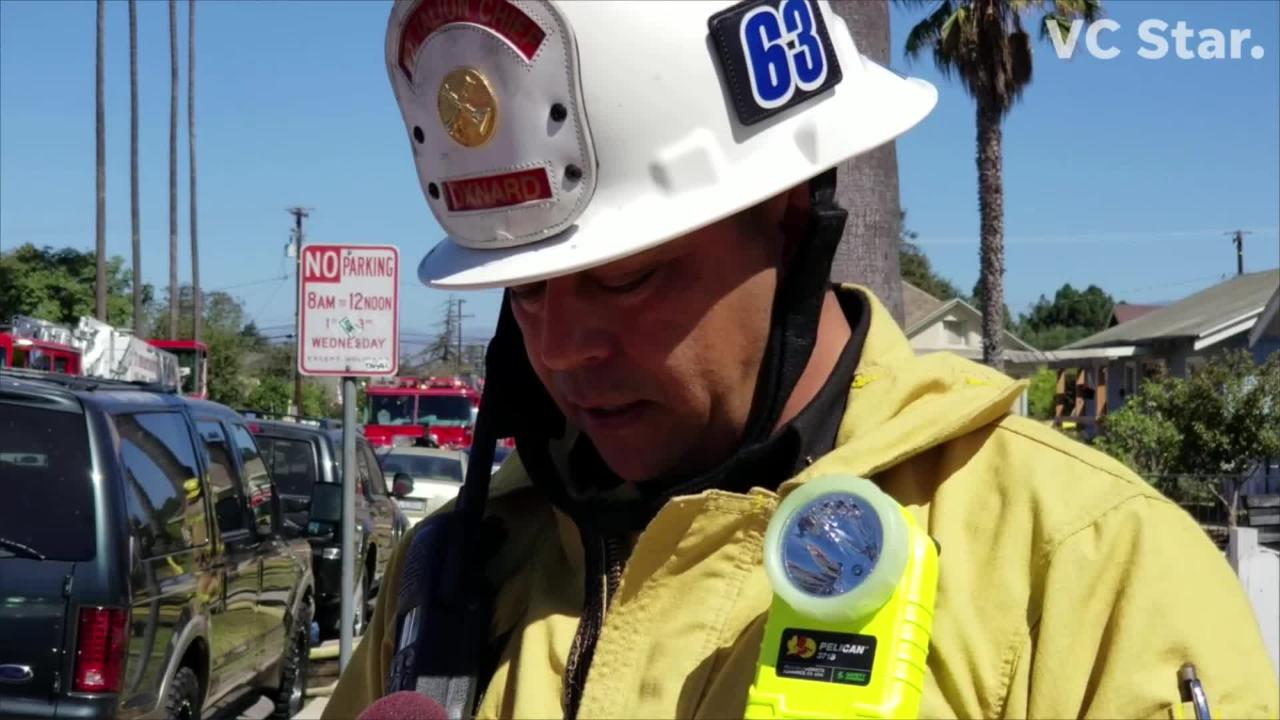 Oxnard fire official provides update at scene