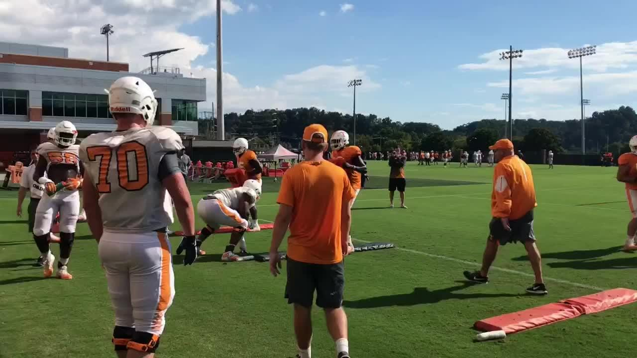 Tennessee practiced in preparation for Florida on Tuesday