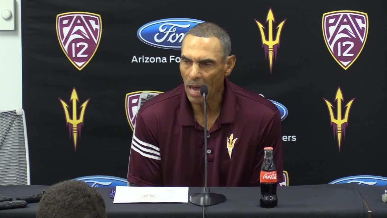 ASU head coach says he loves the way WR Frank Darby competes and compliments his ability to get open downfield.