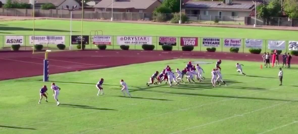 Blind football player Adonis Watt scored a touchdown for Brophy Prep in a freshman  game vs. Mountain View