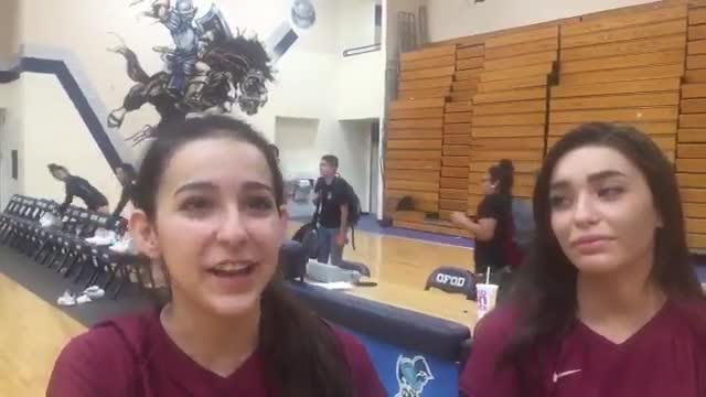 El Dorado volleyball players Paige McGriff and Sarah Marquez talk volleyball