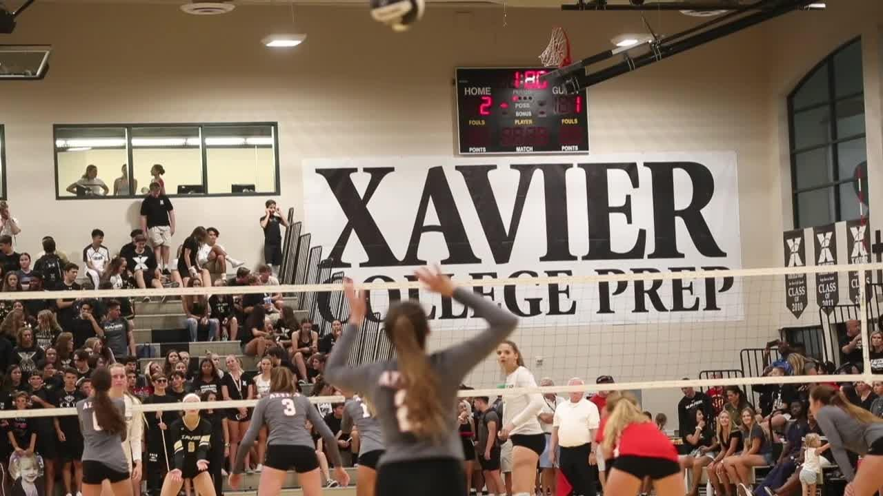 Even if there was a scoring controversy in the first game, there is no controversy who the top volleyball team in the desert is right now -- Xavier Prep.