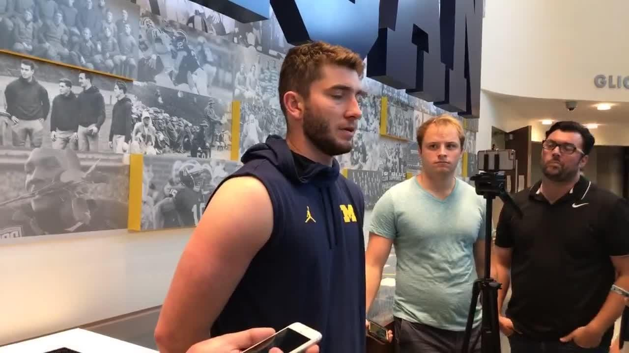 Michigan football QB Shea Patterson talked to media about team's upcoming opponent: Nebraska.