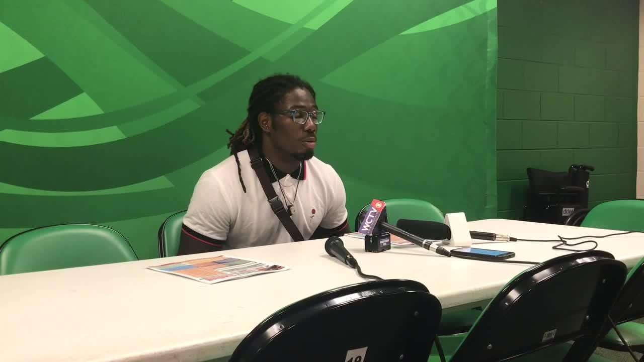 WATCH: Rattlers linebacker Jibreel Hazly talks about bouncing back from a loss and prepping for Savannah State.