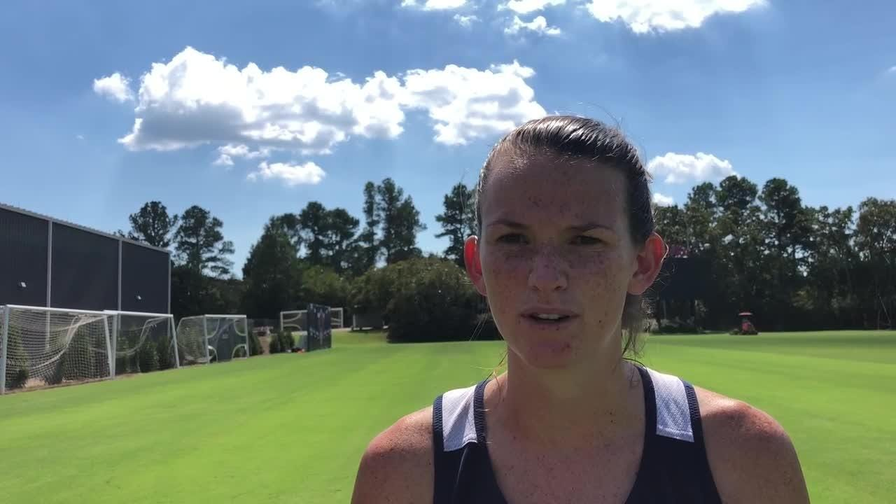 Ole Miss soccer standout CeCe Kizer talks about her journey from forward, to center back, to attacking midfielder after practice on Sept. 18, 2018.
