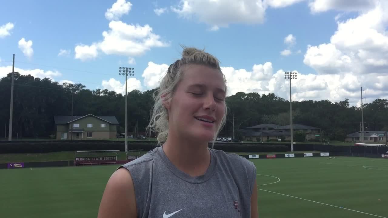 Watch it: FSU forward Kristen McFarland previews this weekend's slate of games