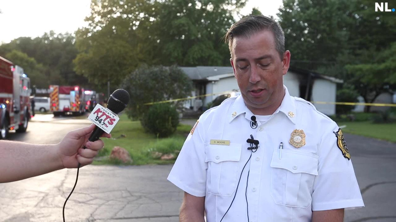 Briefing on mobile home fire that sent one person to the hospital