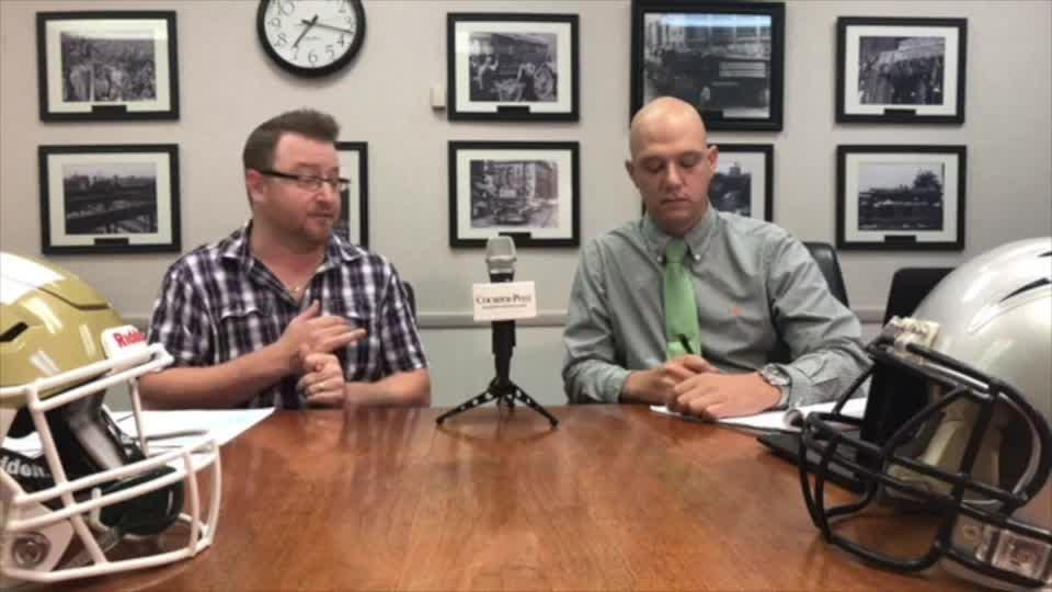 Reporters Mark Trible and Josh Friedman review Week 2, look ahead to Week 3, and field questions from viewers. The show runs on facebook.com/sjgridirongang every Wednesday at 7 p.m.
