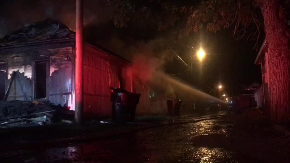 A fire destroys home at 612 7th Street S. in Great Falls, Wednesday night.  The fire was first reported at 7:37 p.m. Wedesday evening.