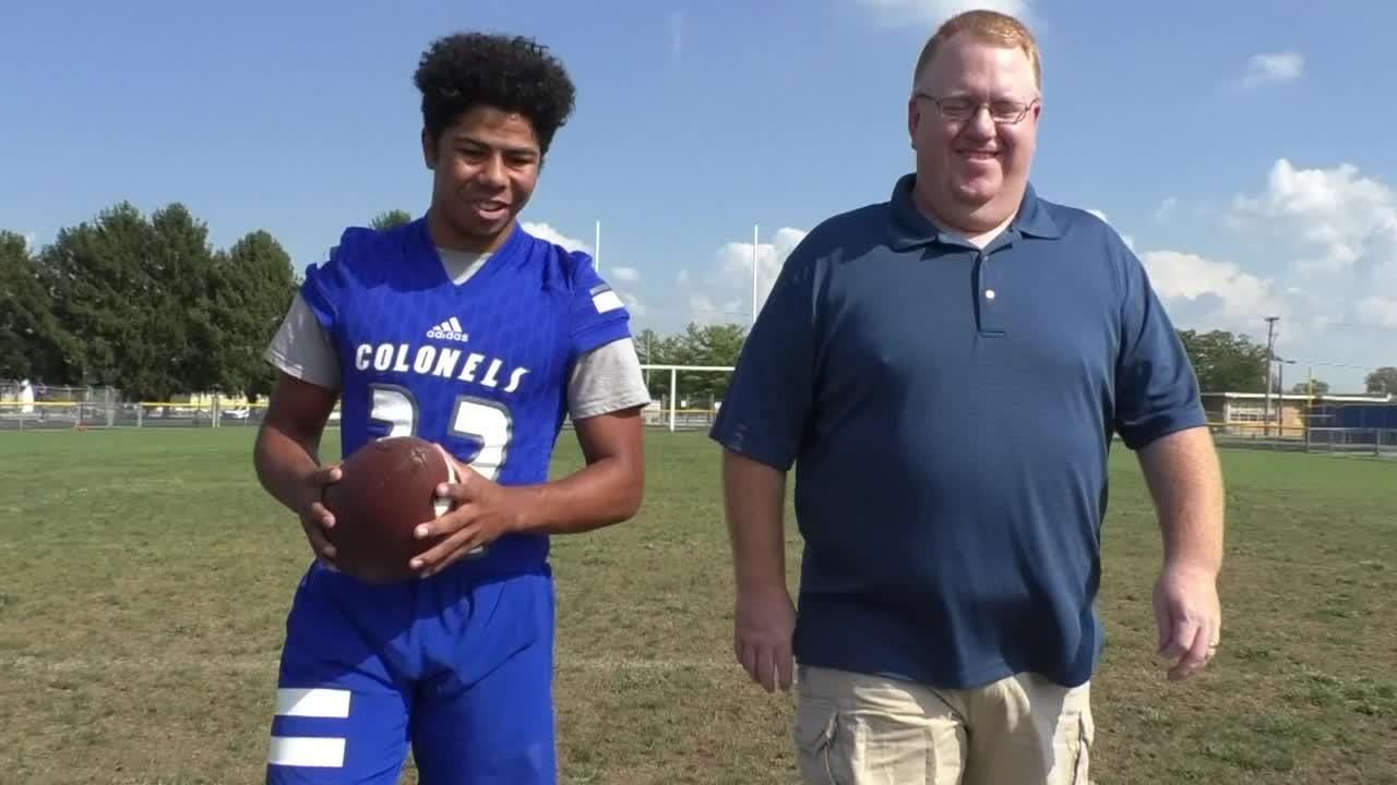 The Courier Journal's Jason Frakes goes 100 Yards with Oldham County's running back Lucas Jones to talk about the Colonels' season.