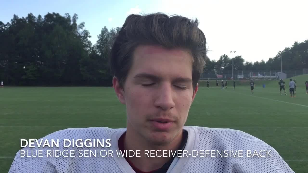 Blue Ridge football players Shayne van Wettering and Devan Diggins anticipate a college-like experience when the team travels to Vernon, Florida.