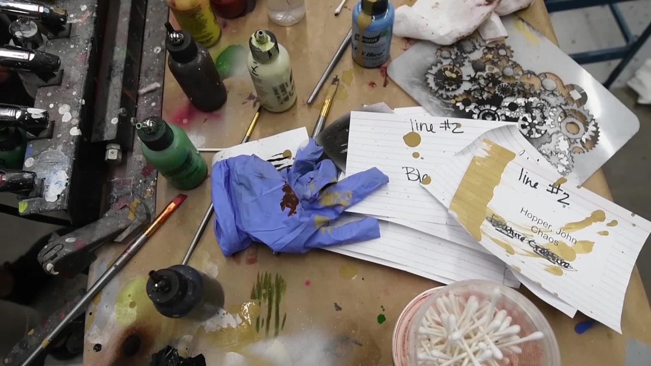 Take a behind the scenes look at how the makeup artists at Kings Island's Halloween Haunt create their macabre masterpieces.