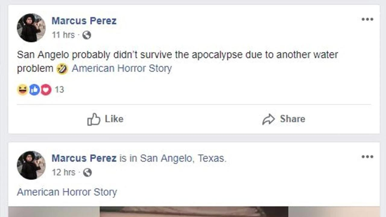 American Horror Story mentioned San Angelo in Season 8, episode two. Social media reacted with shock and amusement.