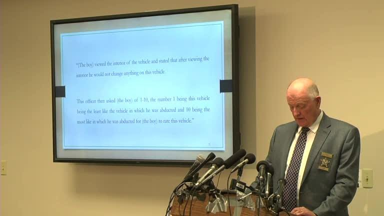 Stearns County Sheriff Don Gudmundson presents key elements  in the case of Jacob Wetterling's disappearance