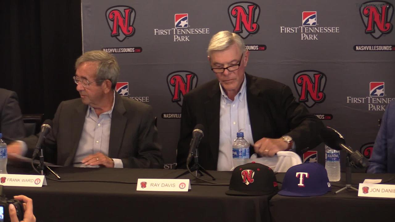 The Texas Rangers and the Nashville Sounds signed a 4-year agreement on Thursday.