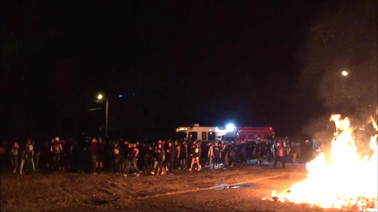 It did burn to the ground as Warrior pride and spirit brings luck to the team for a win.