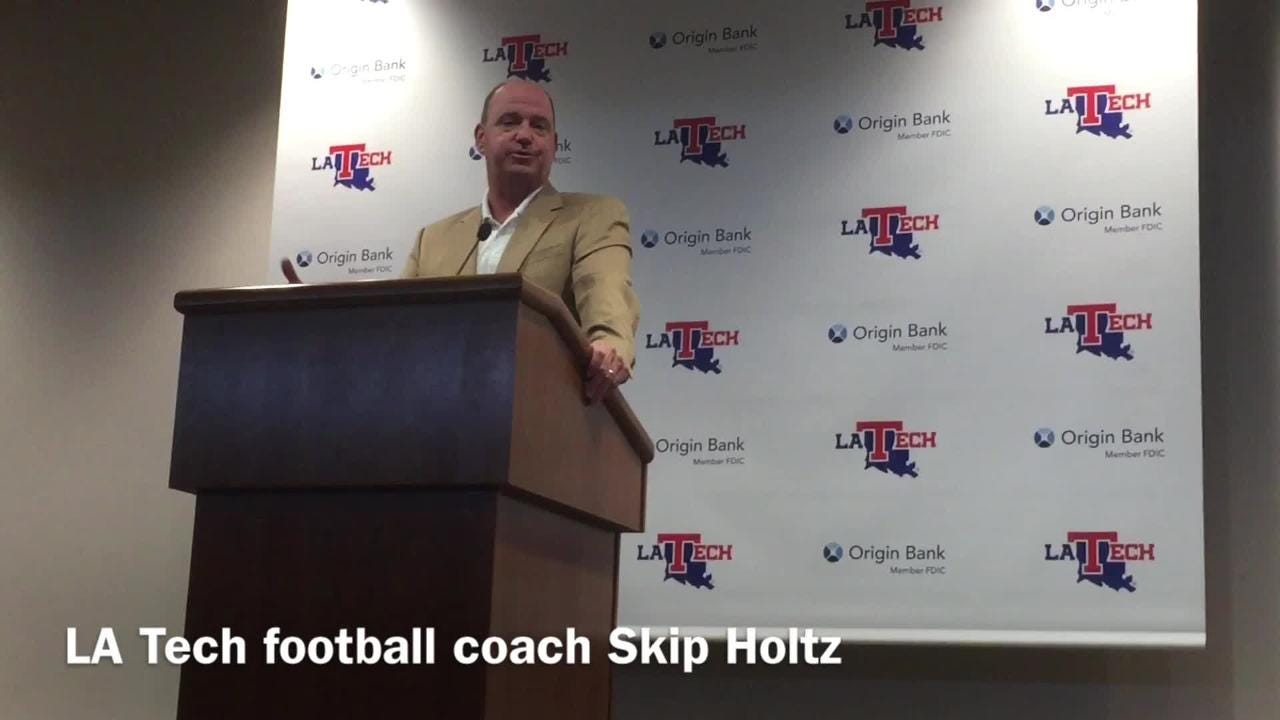 Louisiana Tech head football coach Skip Holtz talks importance of keeping Louisiana high school recruits home.