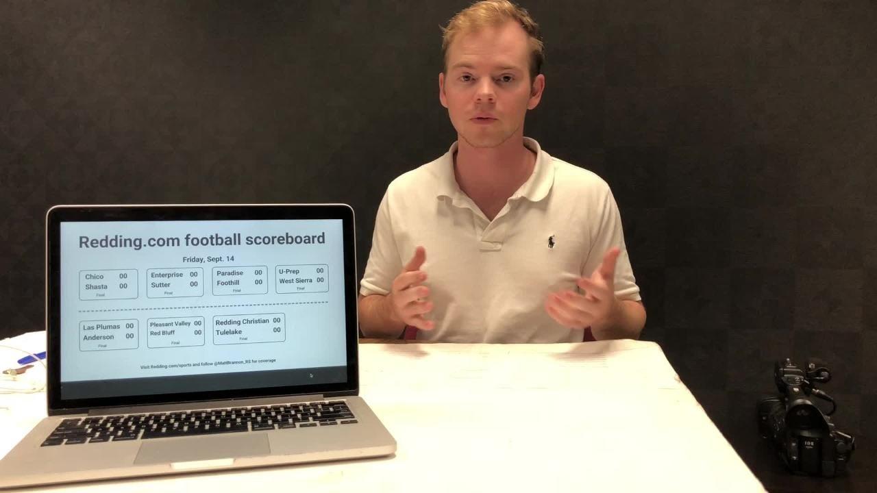 Redding sports reporter Matt Brannon previews football games for Friday, Sept. 21.