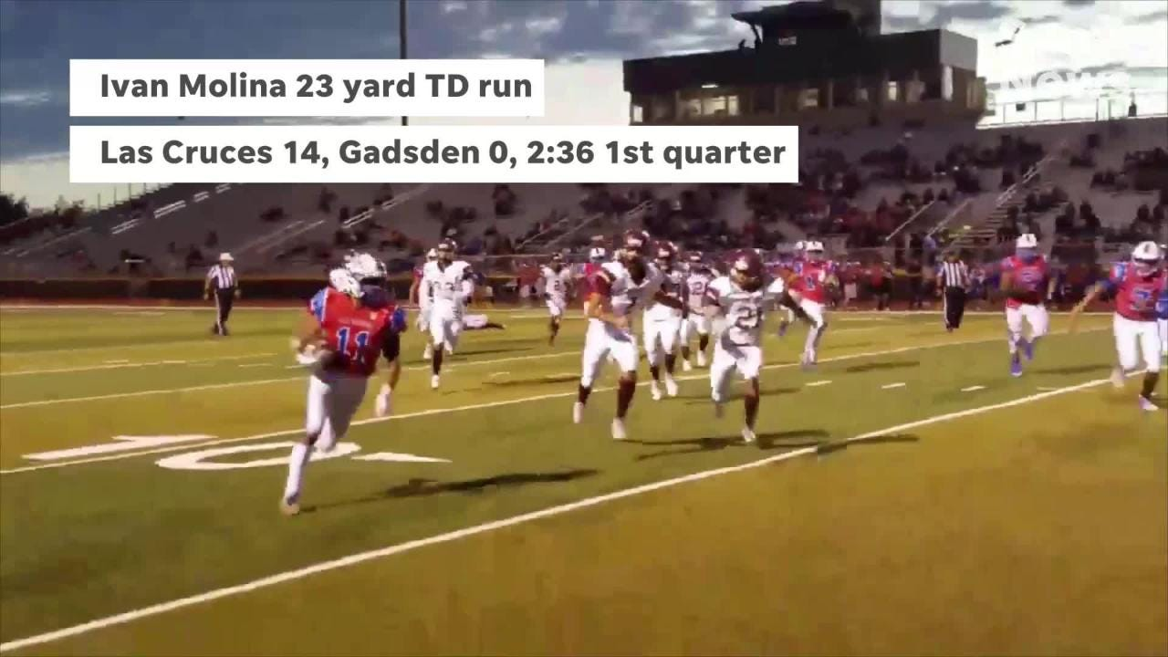 Las Cruces beat Gadsden 42-0 Thursday night at the Field of Dreams in both team's district opener.