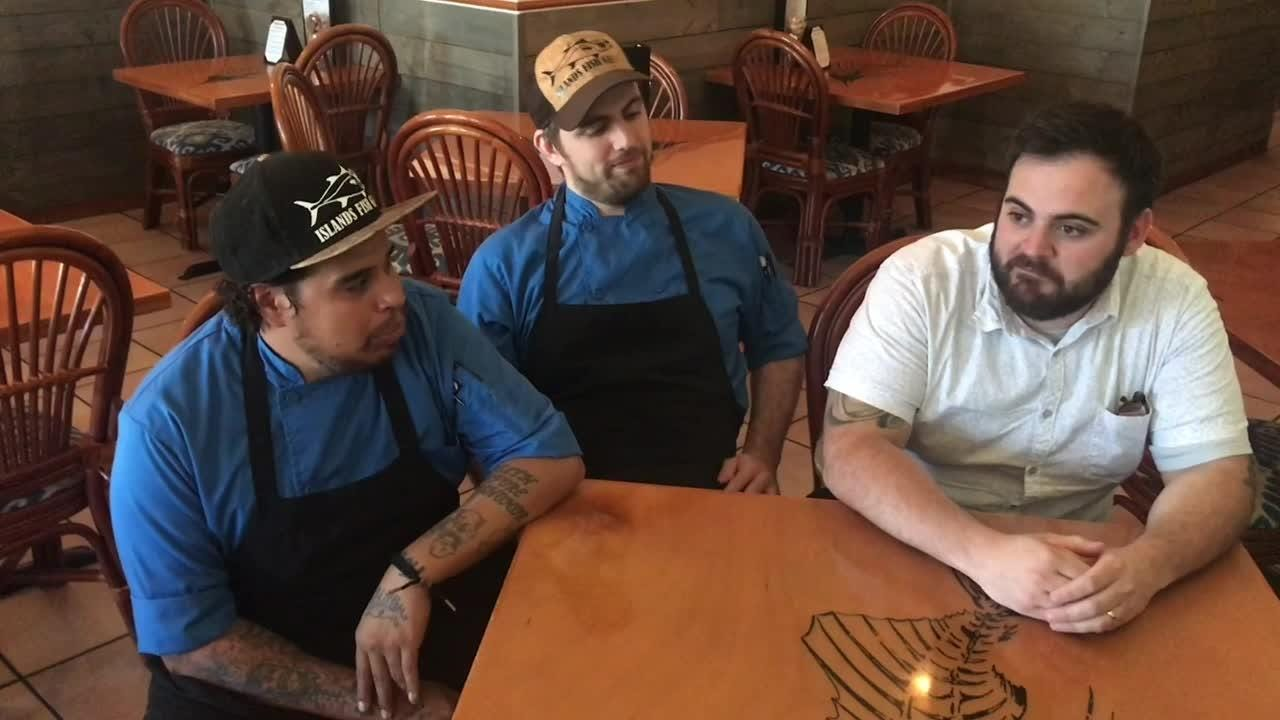 Three chefs at Islands Fish Grill in Indialantic means a lot of creative collaboration in the kitchen