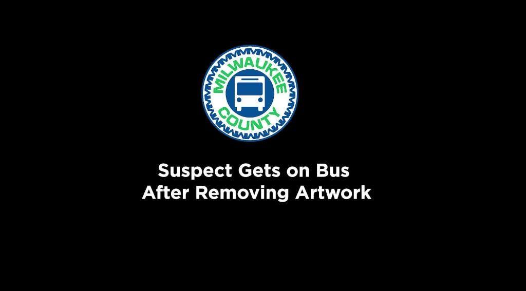 Raw video: Art stolen from Milwaukee bus stop | Milwaukee Journal Sentinel
