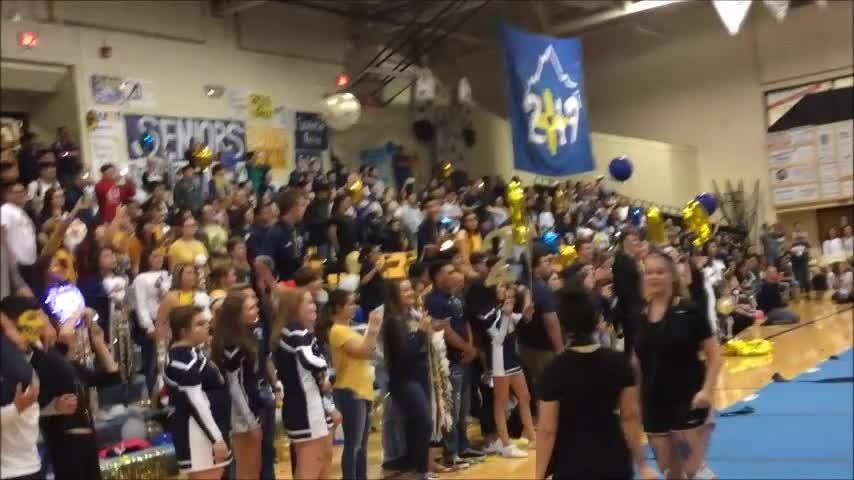 The Ruidoso Warriors homecoming pep rally, before the big game that will be played against their rivals, the Tularosa Wildcats.
