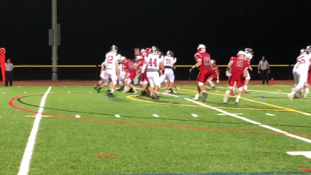 Boonton's Hunter Van Zant races nine yards for a touchdown as Boonton extends its lead against Whippany Park.