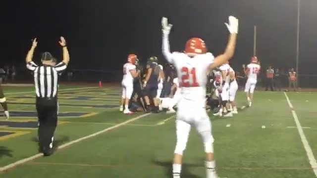 Mountain Lakes' Mission Kercher powers in for touchdown