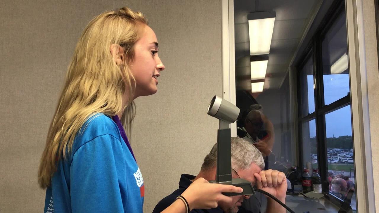 North DeSoto's Katelyn Valentine sings National Anthem