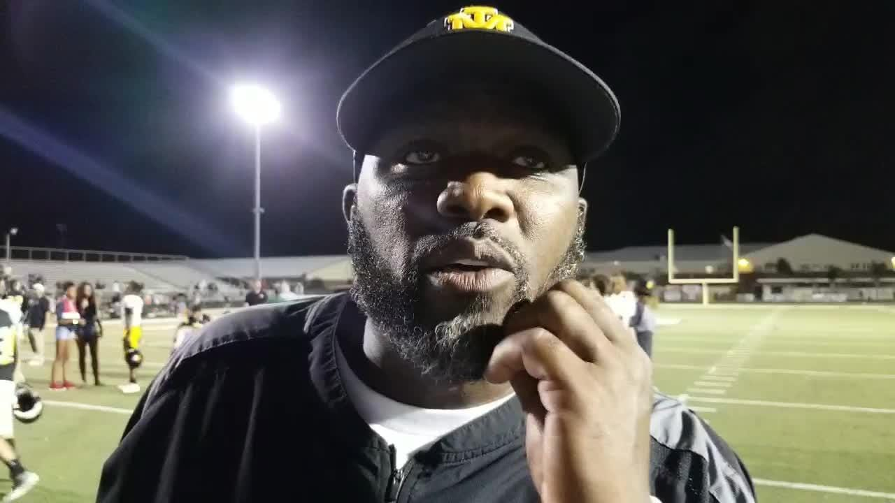 Merritt Island head coach Hurlie Brown talks about rebounding from last week's loss to Viera and the Mustang's decisive 34-6 win over Melbourne.