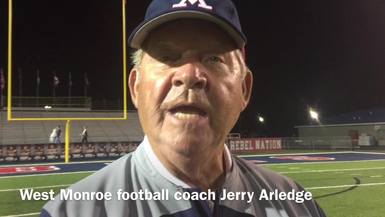 West Monroe football coach Jerry Arledge assesses how the Rebels converting turnovers points led to win over Noxubee County.