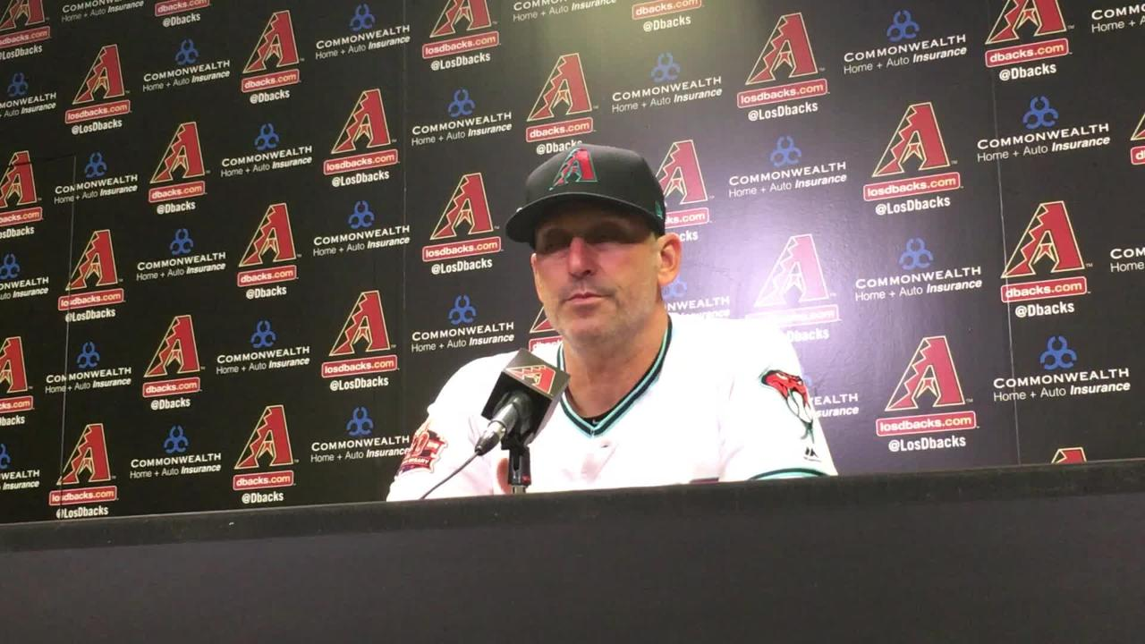 Diamondbacks manager Torey Lovullo talks about the controversial call that went against his team in the eighth inning on Friday night.