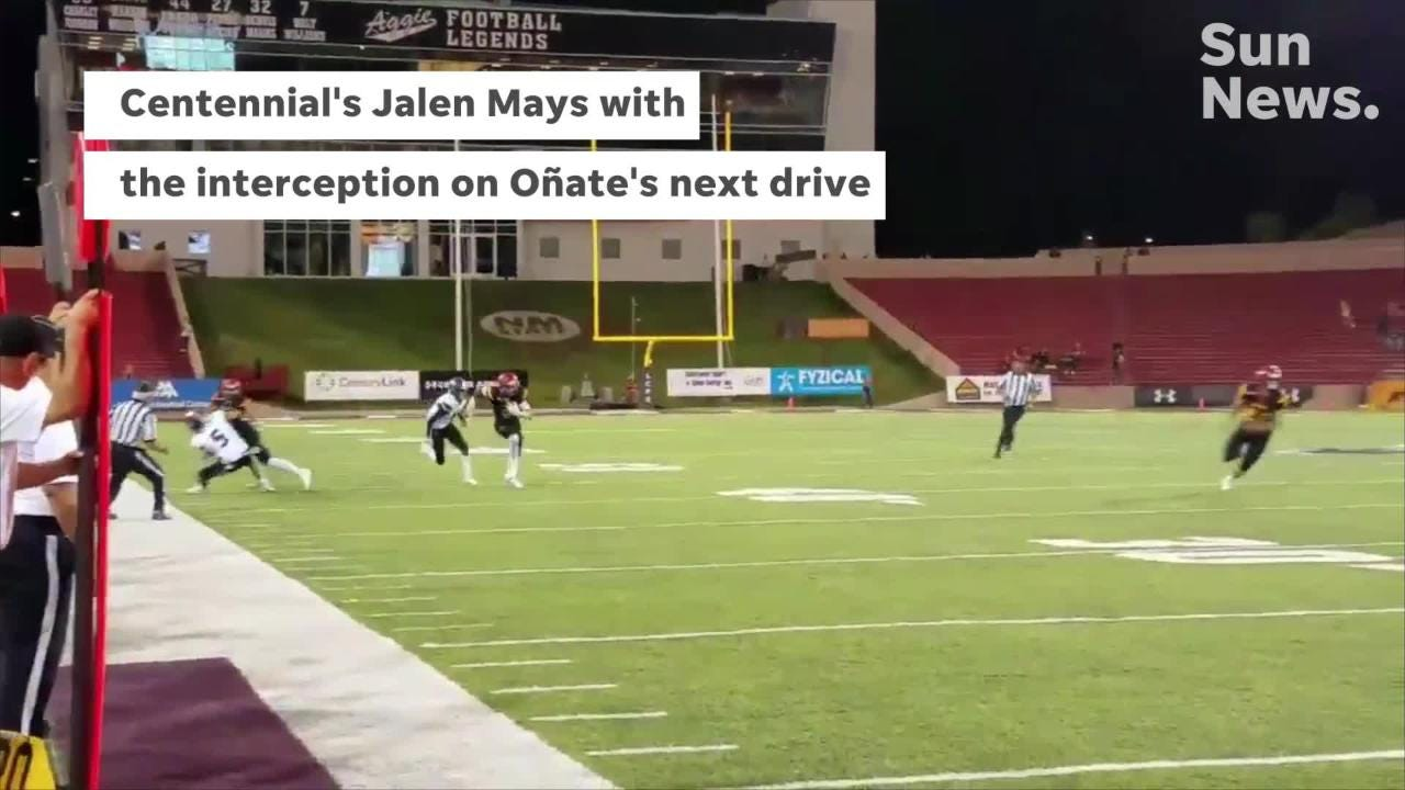 Centennial beat Oñate 35-0 in the Organ Mountain Rivalry at Aggie Memorial Stadium Friday night.