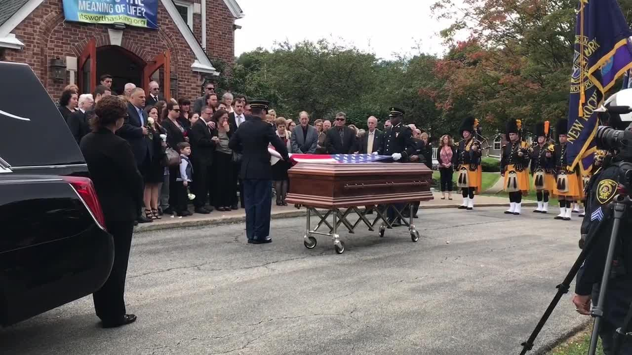 Mark Cado, a Hopewell Junction man, Vietnam War veteran and 9/11 volunteer, was honored at his funeral services at St. Denis Church Saturday.