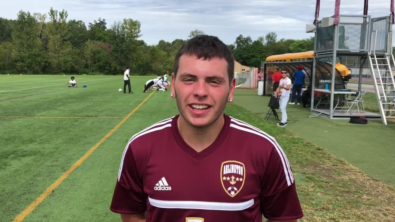 Arlington's Frankie Colantuono's powerful left foot has put fear in his own goalkeeper for years. Now the forward is scaring opposing teams.