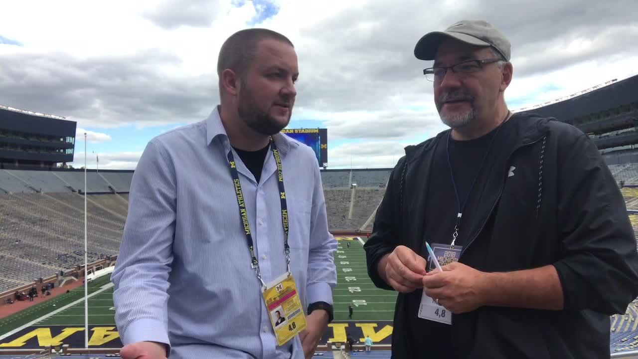 Free Press sports writers Jeff Seidel and Nick Baumgardner discuss the Michigan football 56-10 win over Nebraska on Saturday, Sept. 22, 2018.