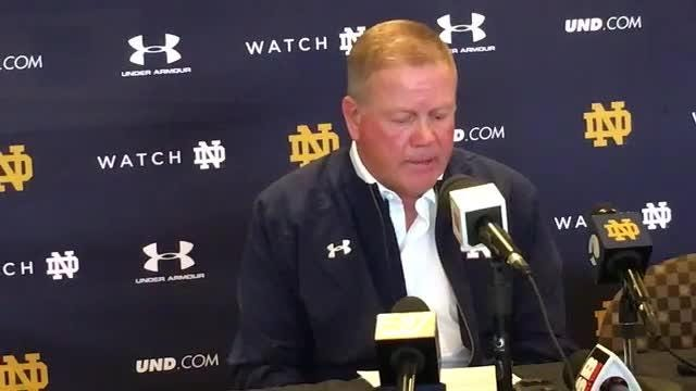 Notre Dame football coach Brian Kelly talks about the Irish's win over Wake Forest.