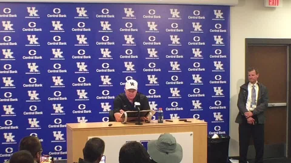 UK coach Mark Stoops broke down his team's win over Mississippi State