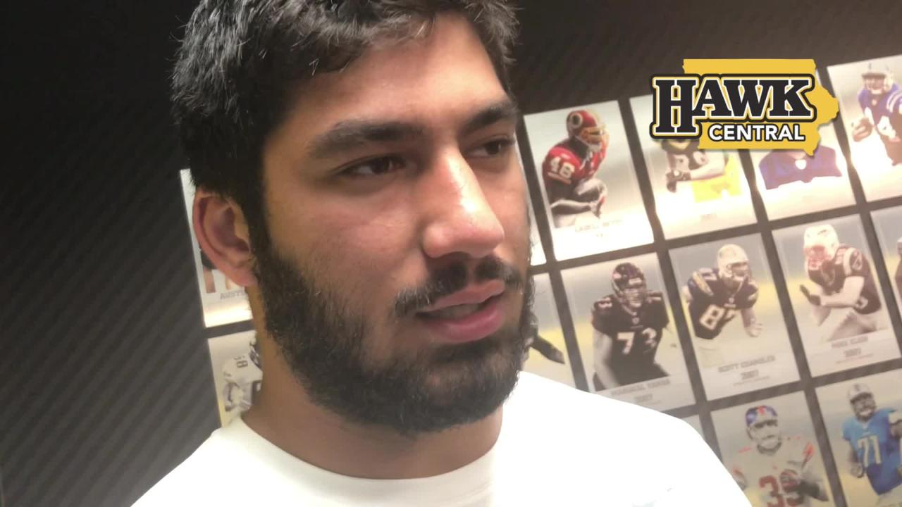 Iowa defensive end A.J. Epenesa felt the Hawkeyes should have gotten more pressure