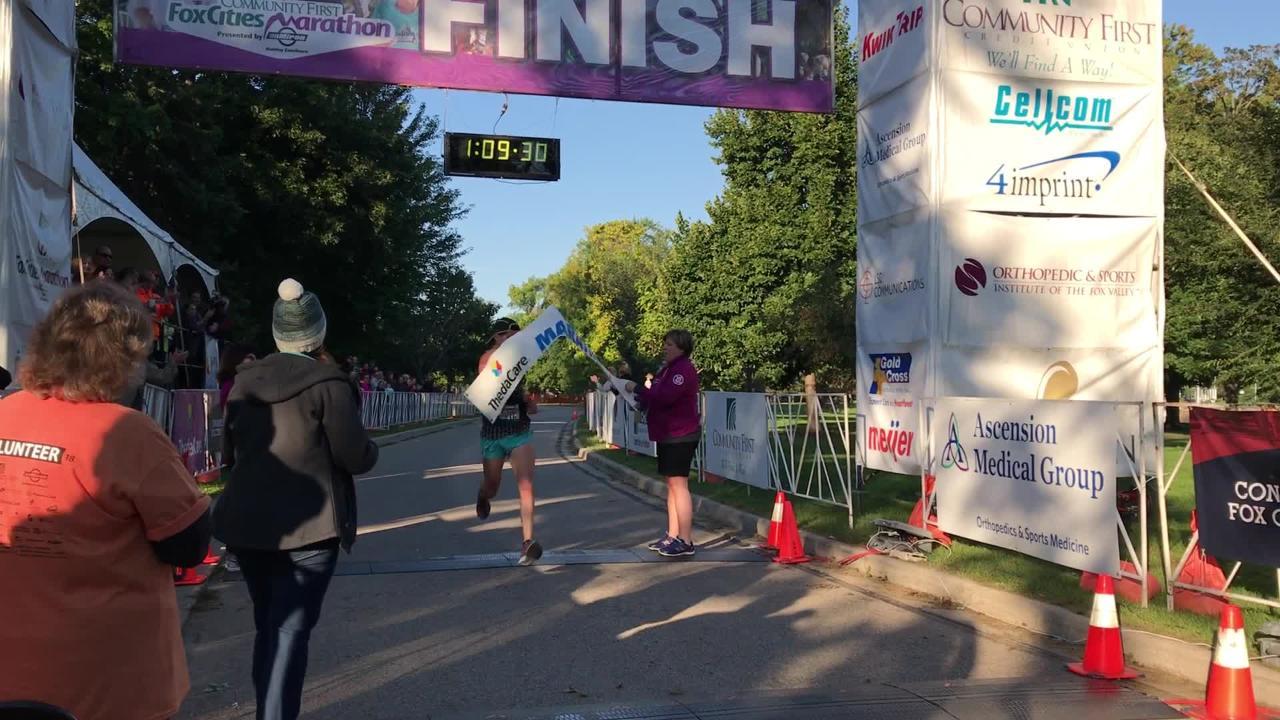 Alexander Rink won the ThedaCare Half Marathon Sept. 23, 2018.