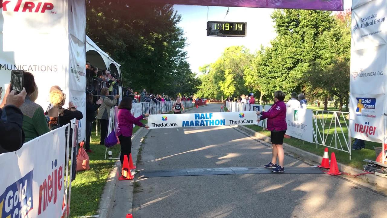 Michele Lee finished first in the half marathon on Sept. 23, 2018.