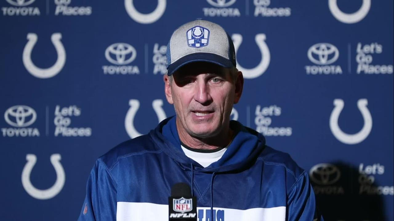 Indianapolis Colts Frank Reich talks touch loss to Eagles, must improve redzone offense.