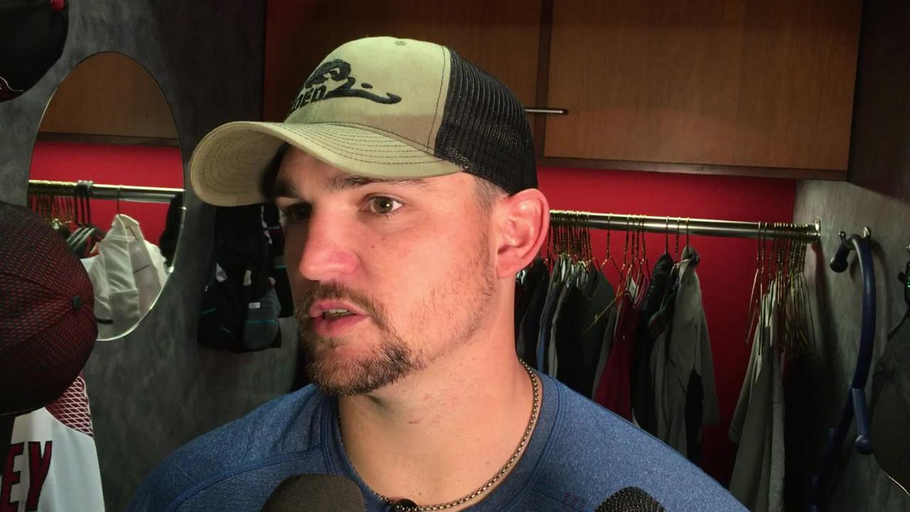The Diamondbacks' Zack Godley talks about his outing in a 2-0 loss to the Rockies, then addresses the team's elimination from postseason contention.